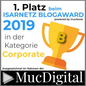 Isarnetz Blogaward 1. Platz
